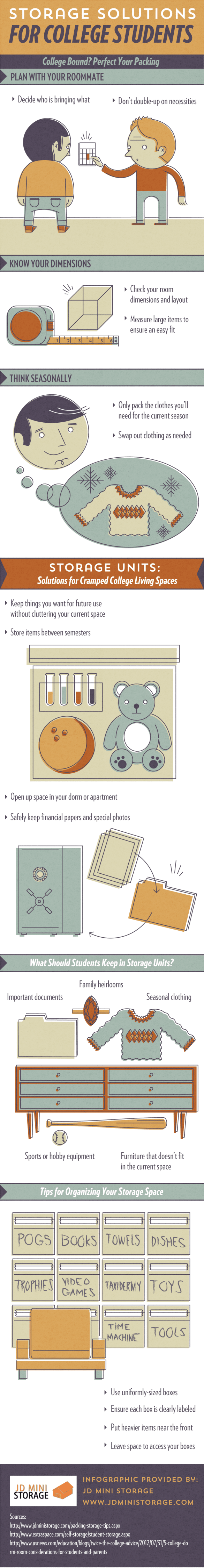 Storage Solutions for College Students [INFOGRAPHIC]